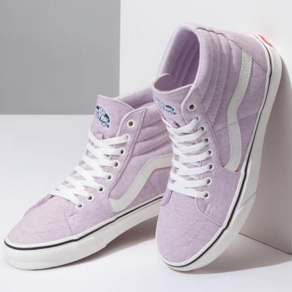 951db091f2 VANS Lavender Jersey Sk8 High Top Shoes. M 5c3ba937a5d7c6a3d0f58eca